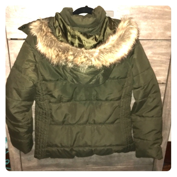 Olive Green Warm Winter Coat